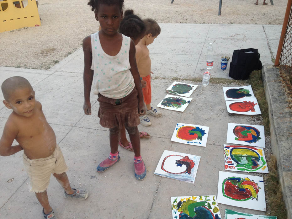 nicolina, johnson, hearts, world, free art society, haiti, dan bratman